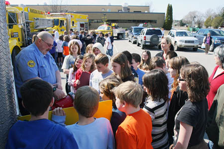 Mancelona Fire District teaches fire safety at Middle School